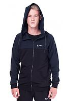 Спортивная кофта (олимпийка) Nike  (44-50)  S - XL  Черный с темно-синим