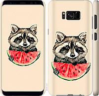 "Чехол на Samsung Galaxy S8 Енотик с арбузом ""4605c-829-40392"""