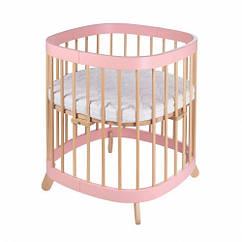 Кроватка Tweeto 7в1 розовый натуральный