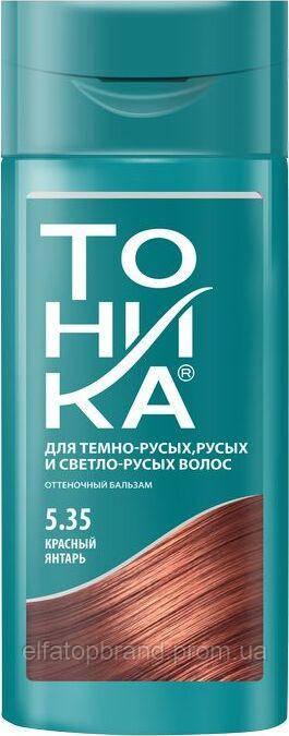 """""""Тоника"""" Бальзам для надання відтінку волоссю 5.35 """"Красный янтарь"""", 150 мл, (21 шт/ящ)"""