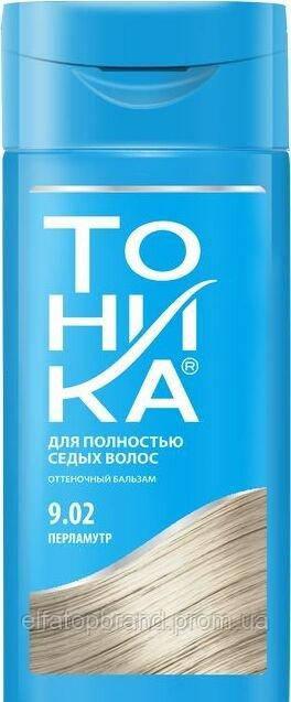 """""""Тоника"""" Бальзам для надання відтінку волоссю 9.02 """"Перламутр"""", 150 мл, (21 шт/ящ)"""