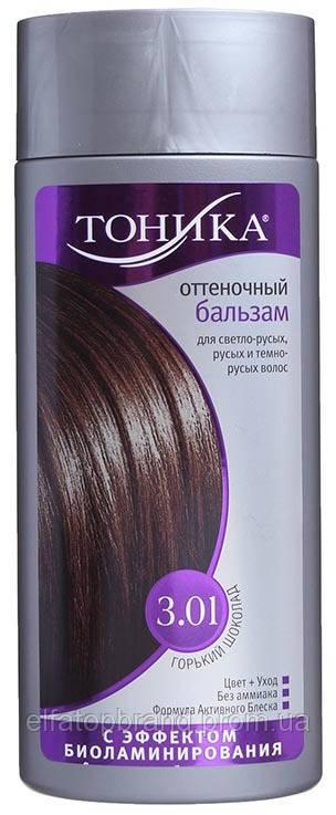Відтіночний Бальзам Фарба Для Волосся З Ефектом Біоламінування 3.01 Гіркий шоколад 150