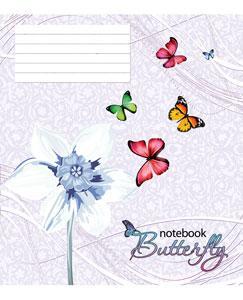 Тетрадь TM Green 18 листов в клетку (2095к) Бабочки