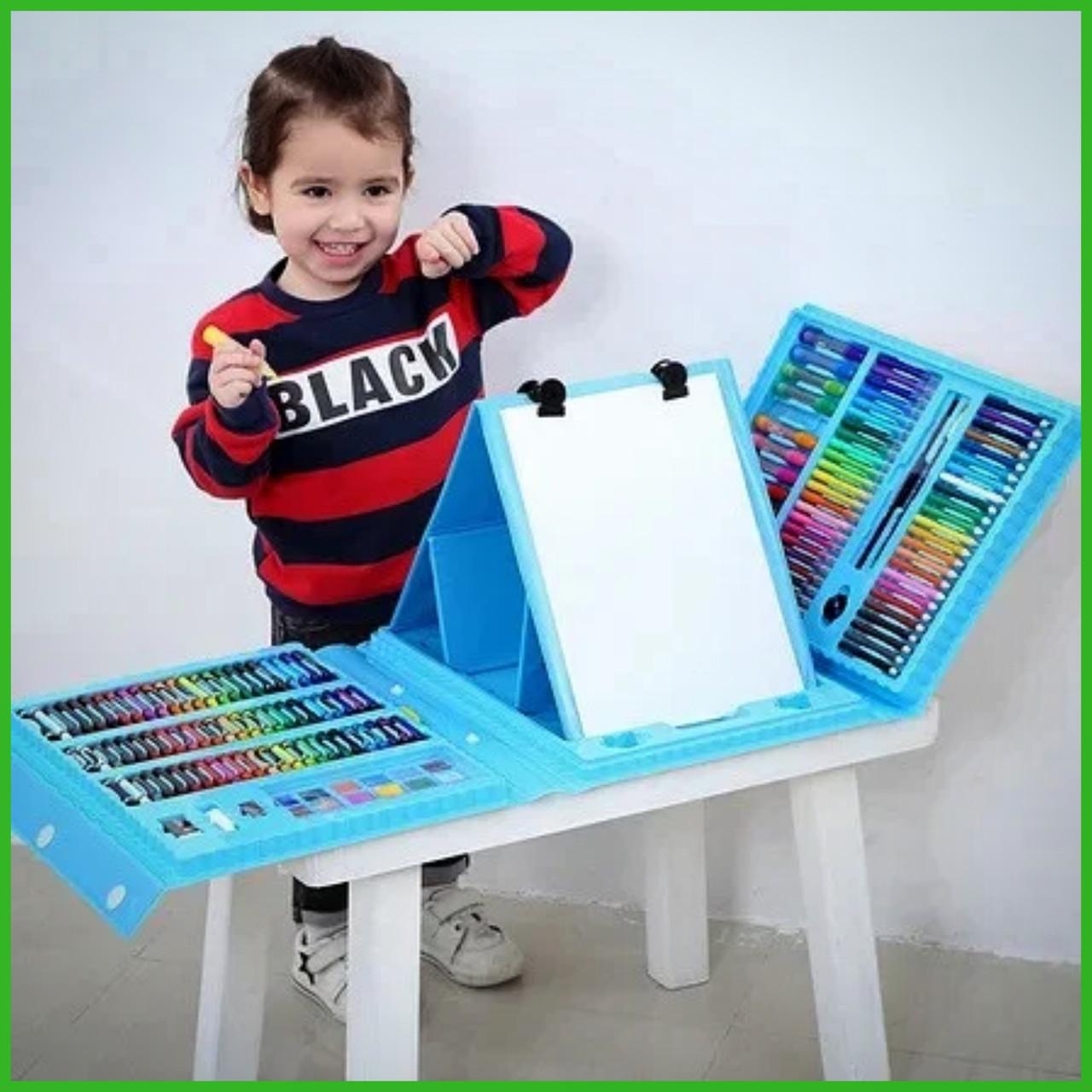 """Набір для дитячої творчості у валізі з 208 предметів """"Чемодан творчості"""" Блакитний"""