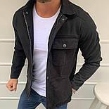 Куртка - Мужская джинсовая куртка (черная), фото 2
