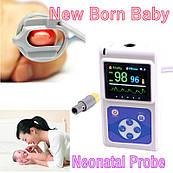 Пульсоксиметр CMS60D NEO, цветной OLED дисплей с датчиком для новорожденных и детей, CONTEC