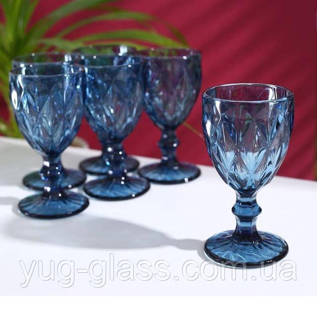 Фужер для вина синий