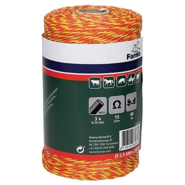 Шнур для электропастуха 250 м.
