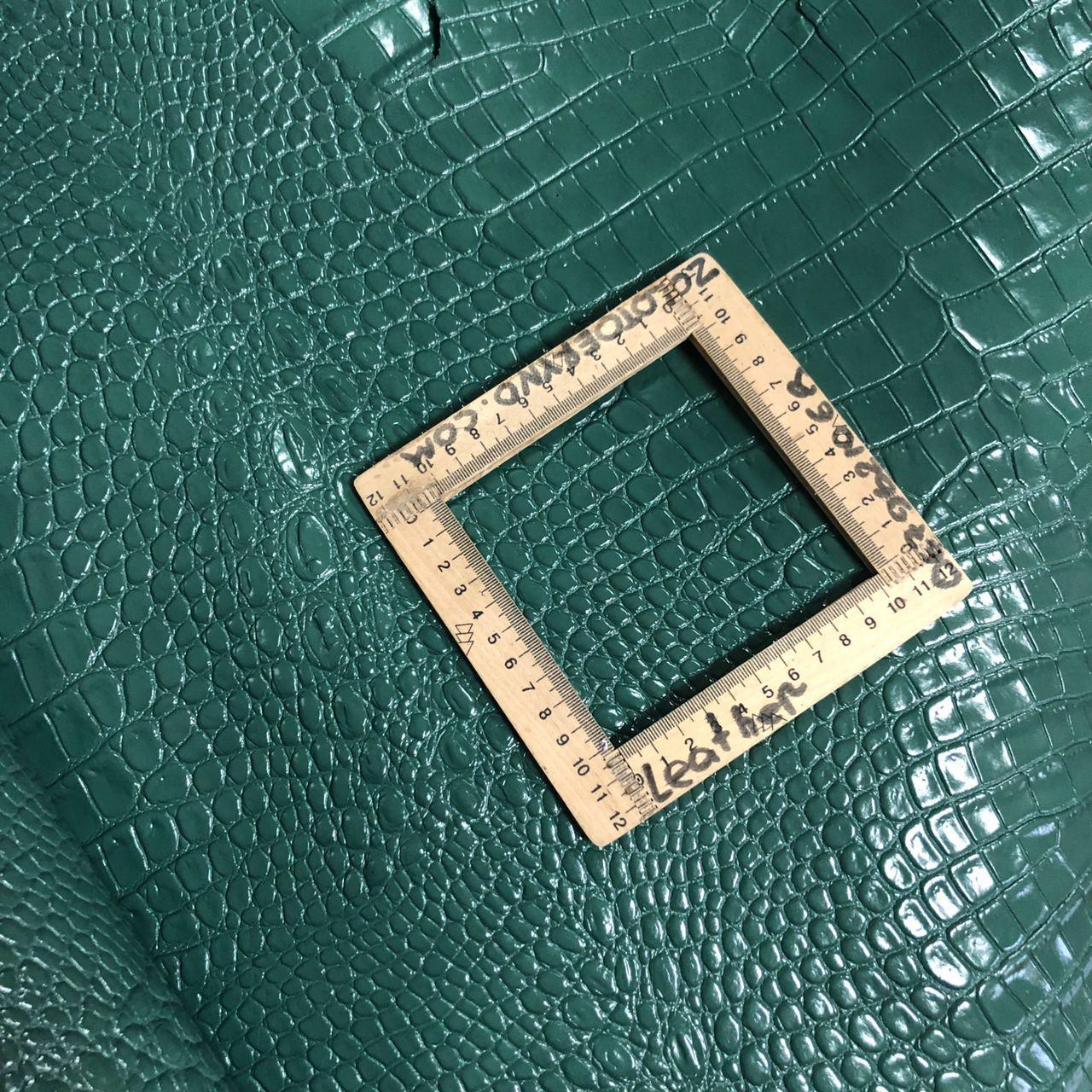 Кожа принт крокодил 1,1мм  нефритовая Кроко/Дер/дм АФ