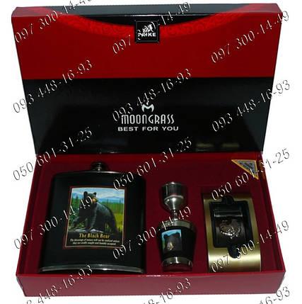 "Набор DJH-2075 ""The Black Bear"", фляга, стопка, лейка, пепельница. , фото 2"