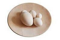Точенные яйца с подставкой из дерева под роспись