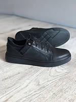 Шкіряні чоловічі туфлі кеди , чорний 40 - 44 р.