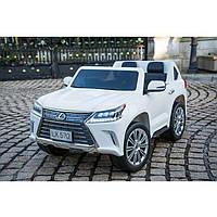 Двухместный электромобиль Kidsauto  Lexus LX-570 (4WD, МР4 планшет) white, фото 1