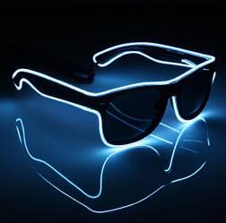Очки светодиодные солнцезащитные El Neon ray white неоновые