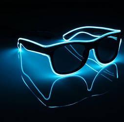 Окуляри світлодіодні сонцезахисні El Neon ray ice blue неонові
