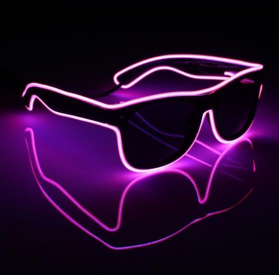 Очки светодиодные солнцезащитные El Neon ray pink неоновые