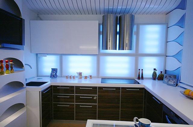 кухонное освещение цвета лед
