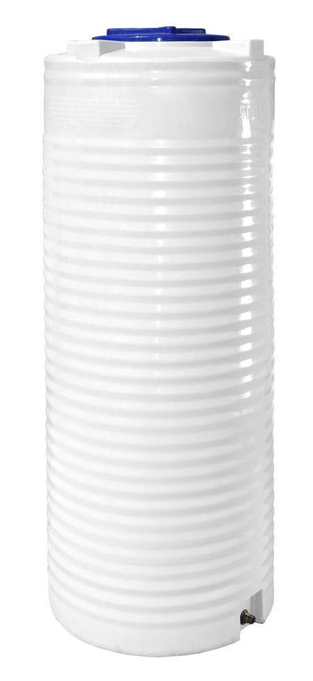 Бак, бочка, емкость 500 литров пищевая узкая вертикальная RVО У