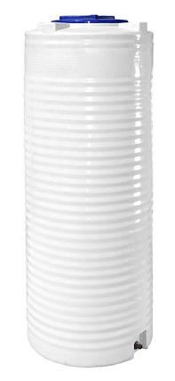 Бак, бочка, емкость 500 литров пищевая узкая вертикальная RVО У, фото 2