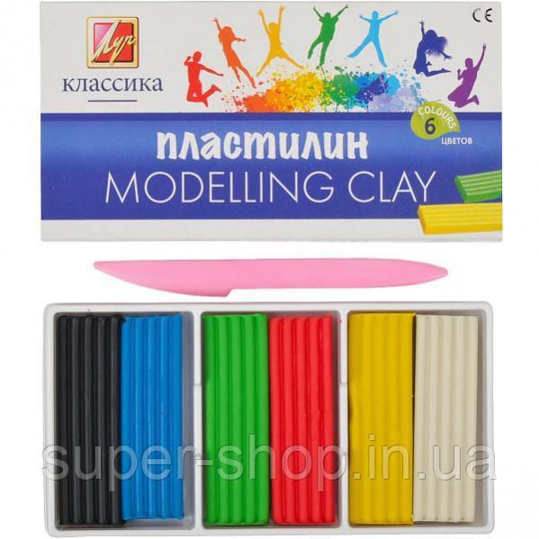 Пластилин «Луч Классика цвета» - 6 цветов