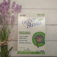 Now Foods Better Stevia 75 g , стевия заменитель сахара 75 пакетов, фото 1