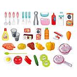 Детская кухня WD-P38-K38 СВЕТ, ЗВУК,ВОДА (посуда и продукты) высота 86см, два цвета, фото 4
