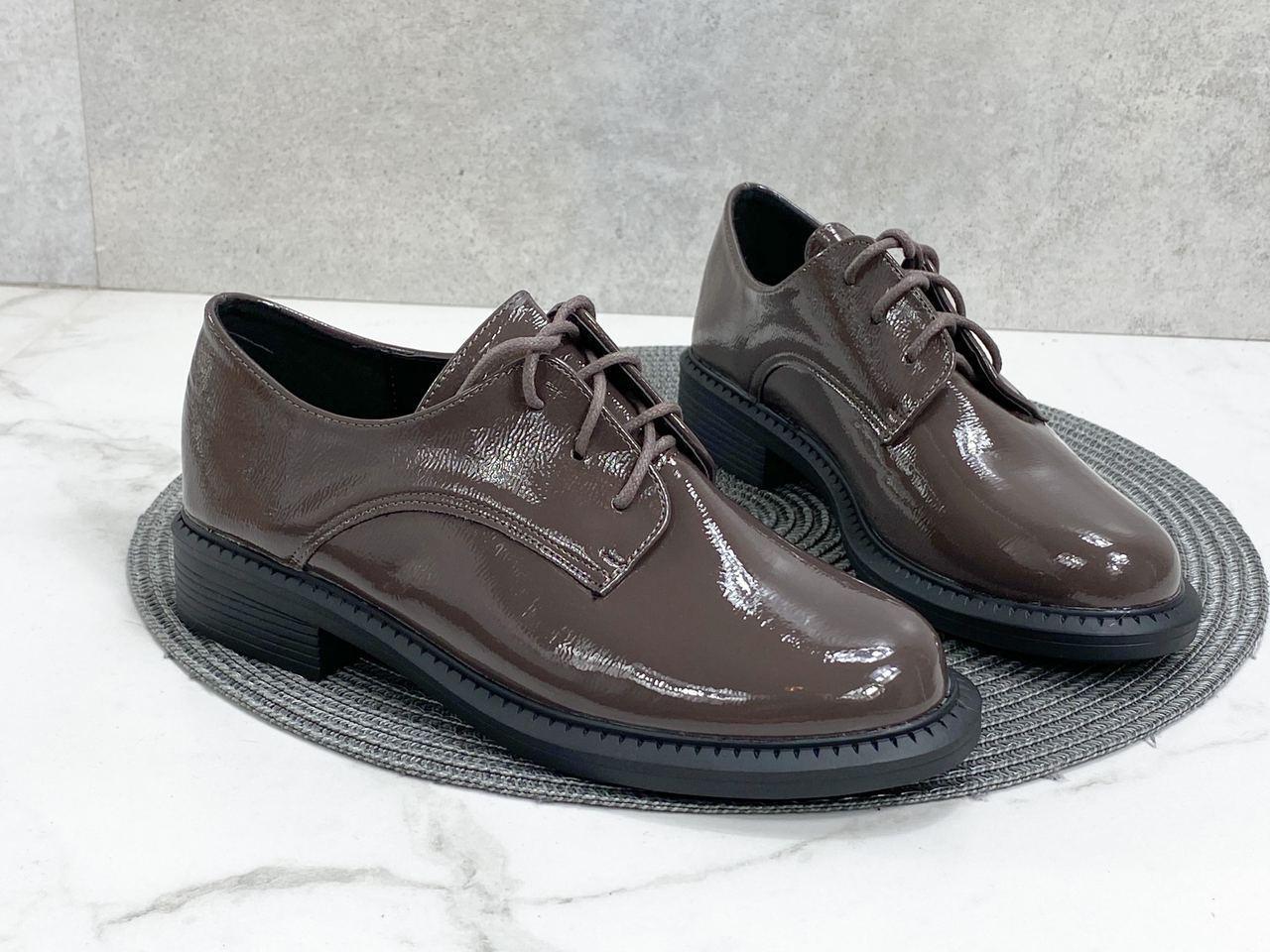 Коричневые женские туфли 633 (ТМ)