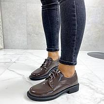 Коричневые женские туфли 633 (ТМ), фото 3