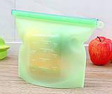 Набор многоразовых силиконовых пищевых судков 2Life  1,5 л, 1,5 л, 1 л, 0,5 л Зеленый (n-716), фото 6