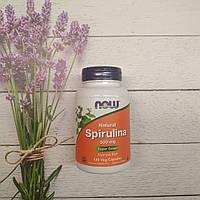 Now Foods Spirulina 120 veg caps 500 mg, Спирулина Нау фудс