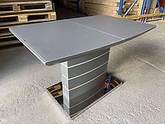 Стол   Houston Satin dark grey  (Хьюстон) DT-9123-1   Evrodim, цвет темно-серый сатиновое стекло