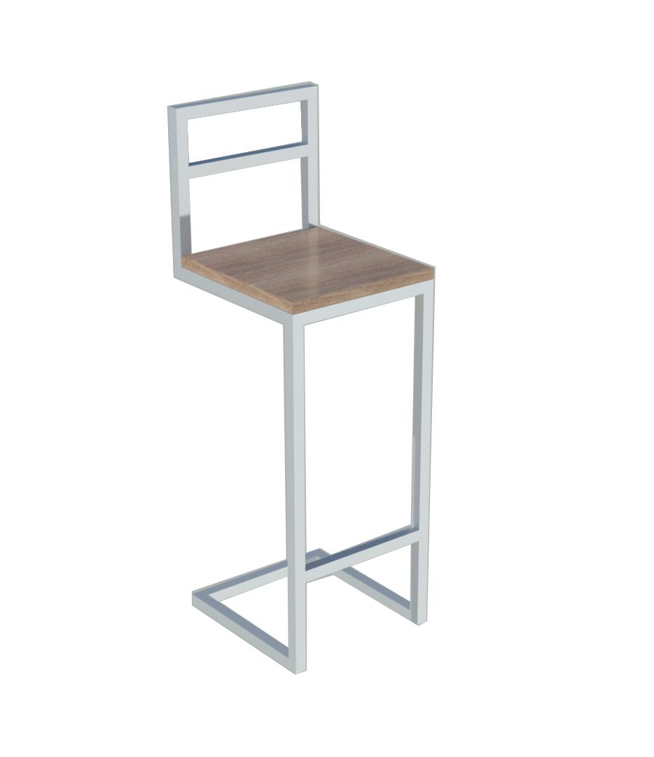 Высокие белые барные стулья для кафе