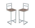 Высокие белые барные стулья для кафе, фото 2