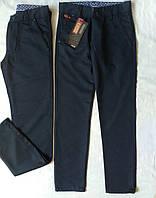 Котоновые брюки на мальчика 10-12 лет 140-152 Турция Темно синие