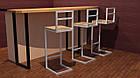 Высокие белые барные стулья для кафе, фото 5