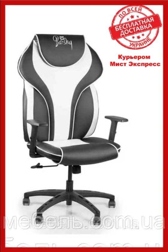 Кресло для врача Barsky BSDsyn-04 Sportdrive White Arm_1D Synchro PA_designe, черный / белый