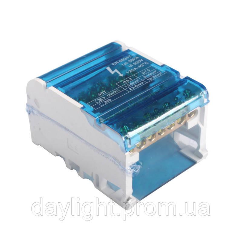 ElectroHouse Шина нулевая в корпусе (кросс-модуль) 4X7 125A IP20
