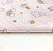 """Польская хлопковая ткань """"Единороги мелкие с тучками на розовом (глиттер)"""", фото 3"""