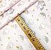 """Польская хлопковая ткань """"Единороги мелкие с тучками на розовом (глиттер)"""", фото 2"""