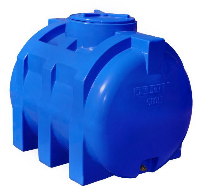 Емкость 500 литров бак, бочка пищевая двухслойная горизонтальная RGД