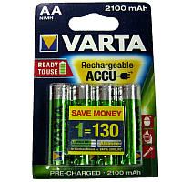 Аккумулятор  R6 Varta 2100mA NiMH Prof (56706)(по 4шт)(передзаряженный)AA