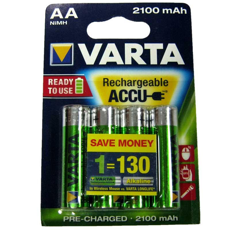 """Аккумулятор  R6 Varta 2100mA NiMH Prof (56706)(по 4шт)(передзаряженный)AA - интернет-магазин """"Микс"""" в Днепре"""