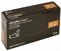 Перчатки нитриловые Nitrylex® PF BLACK Черные XL (9-10) 100 шт