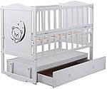 Кровать Babyroom Тедди Т-03 белая (маятник,ящик), фото 2