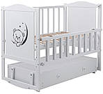 Кровать Babyroom Тедди Т-03 белая (маятник,ящик), фото 3
