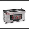 Зеркальные LED часы с будильником и термометром VST-888Y Чёрные зеленная подсветка, фото 4