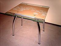 Стол стеклянный обеденный раскладной С 56