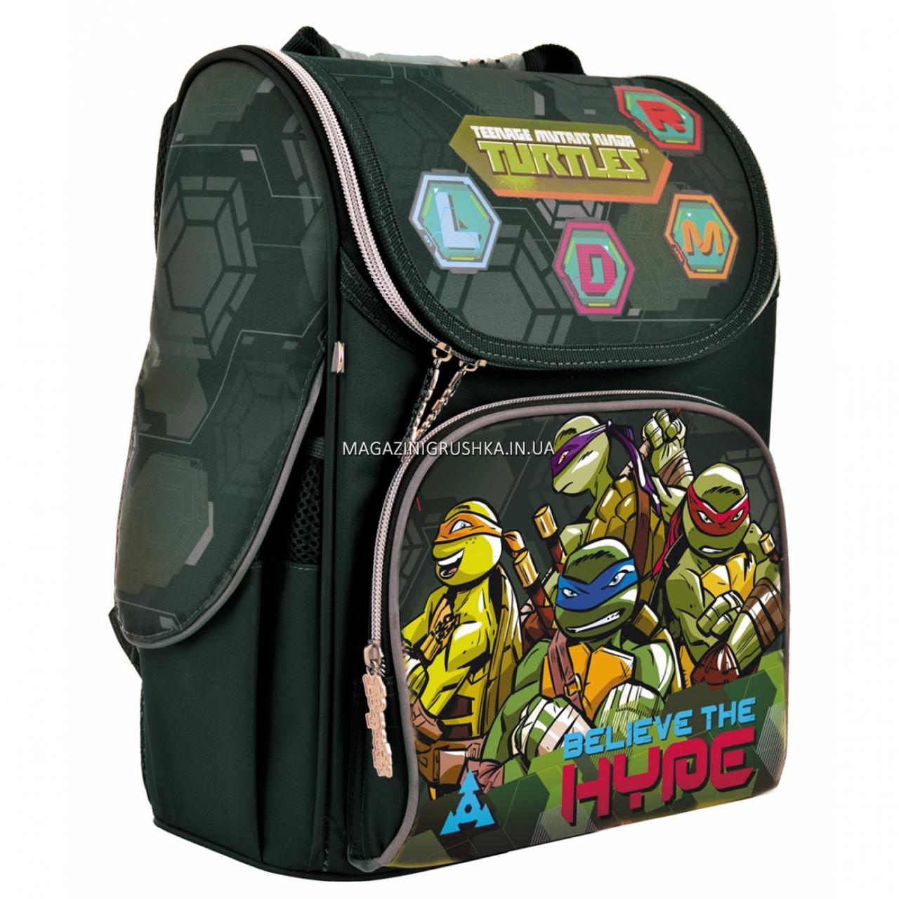 Рюкзак шкільний каркасний 1 Вересня Tmnt Зелений (556157)