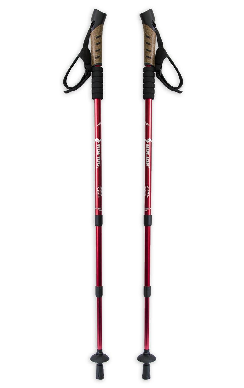 Трекінгові палиці для спортивної скандинавської ходьби (Uolide, Red) скандинавські трекінг палички (Пара)