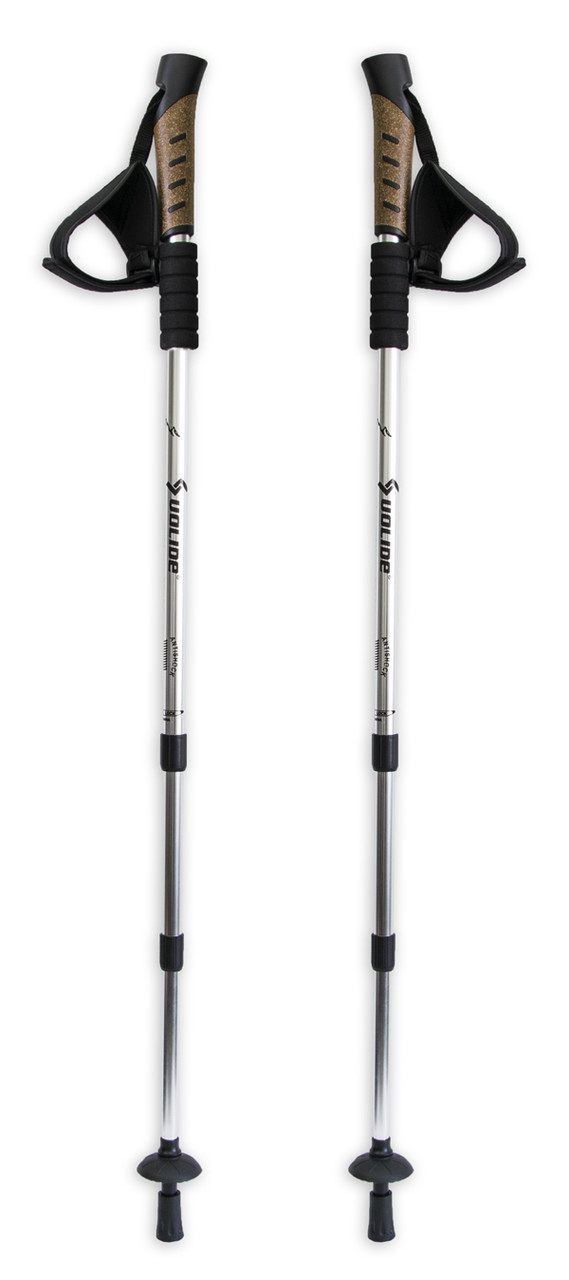 Палки для шведской ходьбы трекинговые телескопические (Uolide, Silver) трекинг палки скандинавские (GK)